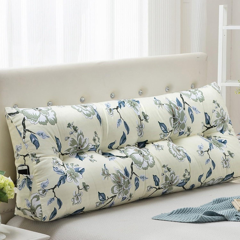 WOFULL Bed by fibre matériel fleurs bleues Soutenu par coin oreiller 60-200cm (taille   2m)