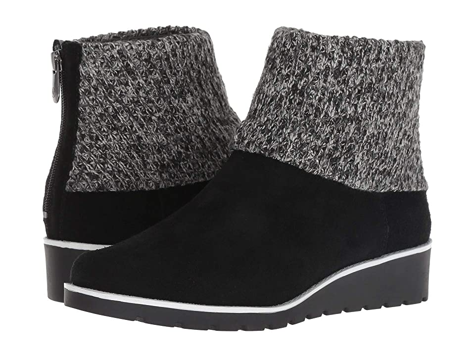 Adrienne Vittadini Tevin (Black Silky Cow Suede) Women