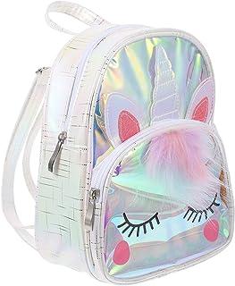 Mochila infantil de unicórnio Amosfun de poliuretano termoplástico de grande capacidade, mochila escolar para crianças, es...