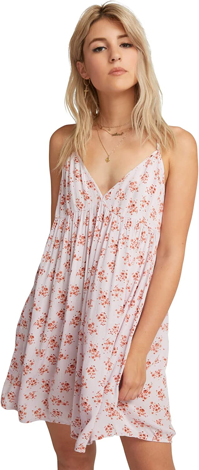 Volcom Women's Vol Dot Com Strappy Cami Babydoll Dress