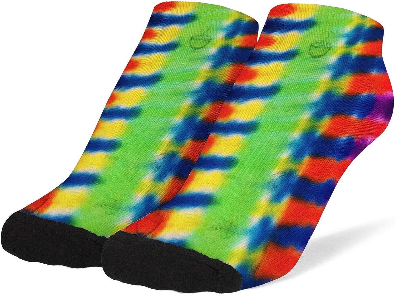 Women Trippy Tie Dye Art Socks Cotton No Show Low Cut Sock Ankle Sock