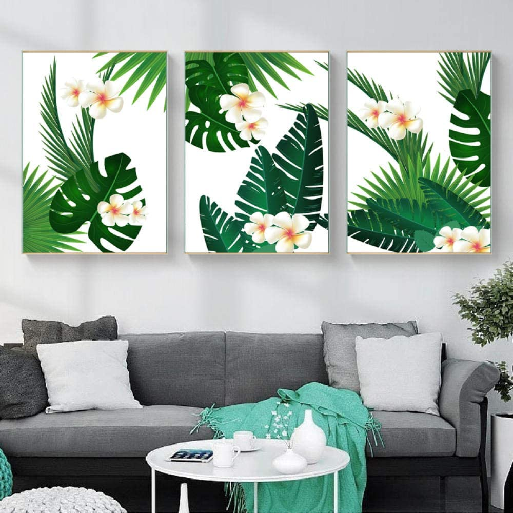 Modern Leaves Wall Art Canvas Opening large release sale Long Beach Mall Painting Plant Nordic Style Green