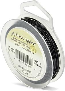 Beadalon Artistic, 22 gauge, Black Color, 15 yd (13.7 m) Craft Wire