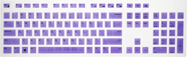 Leze - Ultra Thin Keyboard Cover Compatible with Dell KM636 & KB216 Keyboard & Dell Optiplex 5250 3050 3240 5460 7450 7050 & Dell Inspiron AIO 3475/3670/3477 All-in one Desktop - Purple