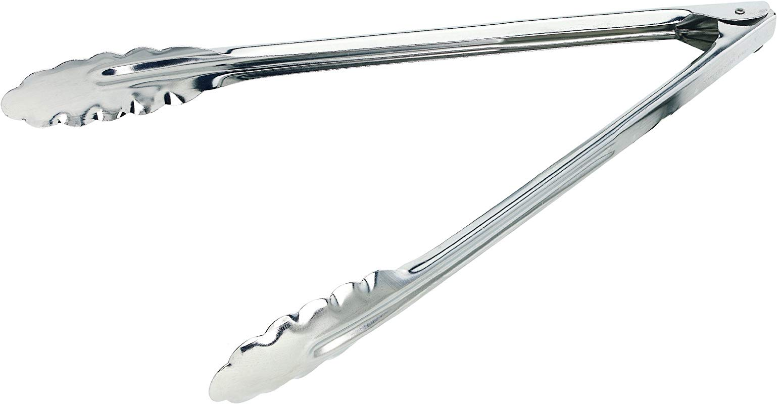 Crestware HDT10X 9 1 2 Inch Extra Heavy Duty Tong 1 Silver
