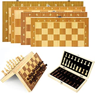 Chess Toy pgmrw23h Wooden Foldable Magnetic International Chess Adult Kid Intellectual Game Toy Parent-child Games Educati...