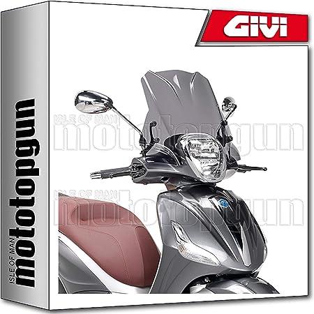 Givi Windschild 5606a Kompatibel Mit Piaggio Beverly 350 Sport Touring 2012 12 2013 13 2014 14 Auto