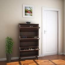 @home by Nilkamal Martin FISRMARTIN3TRSRWLT Shoe Cabinet (Walnut)