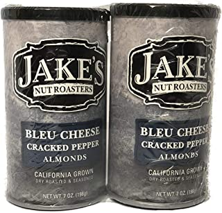 Sponsored Ad - Jake's Nut Roasters Bleu Cheese Cracked Pepper Almonds (2 Pack) Whole Dry Roasted Seasoned Almonds - High-P...