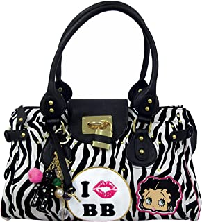 6d4b183d9c Betty Boop On Safari, Sac à main femmes - Blanc - Blanc/noir,