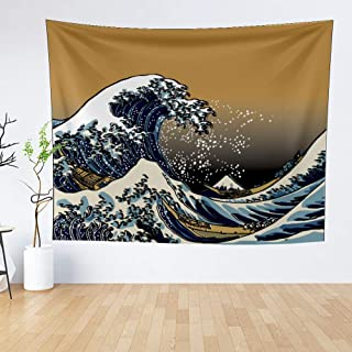 IMEIHOME Great Wave Kanagawa Wall Tapestry with Art Nature Home Decorations for Living Room Bedroom Dorm Decor