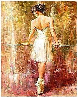Pintura al óleo digital lienzos para pintar manualidades adultos Decoración del hogar 40x50cm Cuadro de geranio púrpura flor