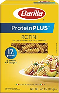 Barilla ProteinPlus Multigrain Pasta, Rotini, 14.5 Ounce, Packaging may vary