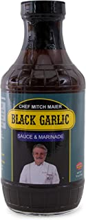 Chef Mitch Maier Black Garlic Sauce & Marinade, 16 ounce - Sweet And Savory, All Natural Healthy Ingredients, Gluten Free, Vegan, No High Fructose Corn Syrup