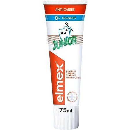 ELMEX - Dentifrice Enfant - Dentifrice Anti-caries - 6-12 Ans - 0 % Colorants - Goût Adapté aux Enfants - 75 ml