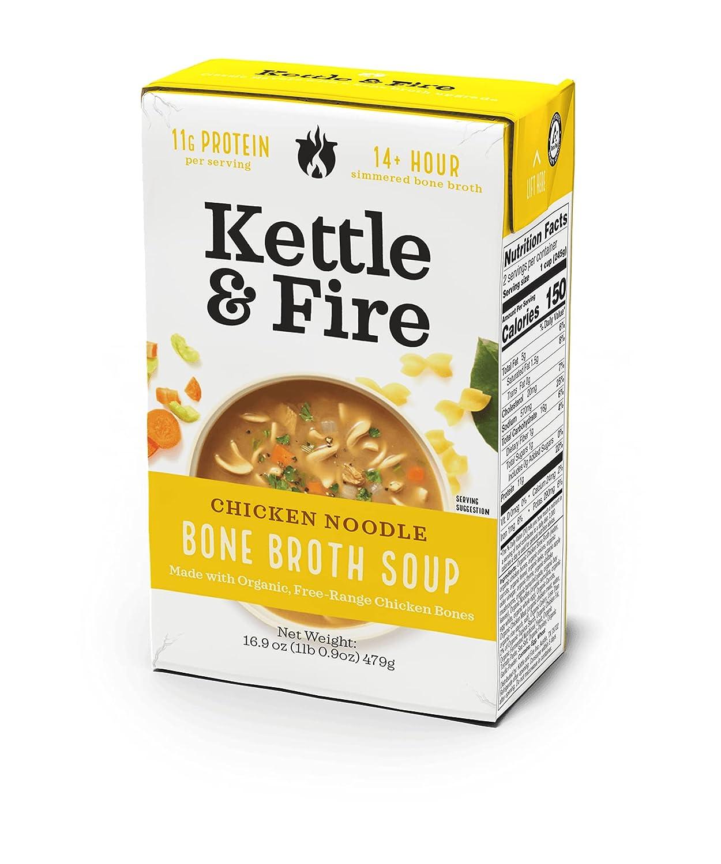 Kettle  Fire, Broth Chicken Organic, 16.9 Ounce
