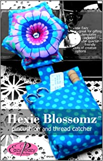 Hexie Blossomz Pincushion and Thread Catcher Pattern Fat Quarter Friendly by Eazy Peazy Quilts EPQ158