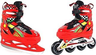 SMJ SPORT 2 合 1 儿童冰鞋 ROL188 内嵌滑冰鞋 - 多色,29 32