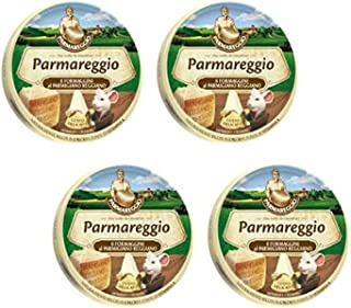 """Parmareggio """"8 Formaggini al Parmigiano Reggiano"""", Parmesan Cheese Melted 4.9 Fluid Ounce (140ml) Packages (Pack of 4) [ Italian Import ]"""