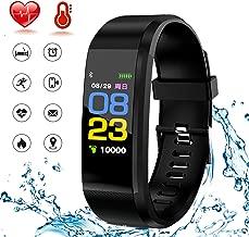 HK Fitness Tracker HR,Activity Tracker Smart Watch Waterproof Smart Bracelet Wristband with Heart Rate Blood Pressure Sleep Monitor GPS Step Calorie Counter Pedometer for Kids Women Men