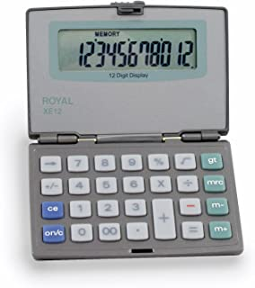 Royal Machines XE12 Calculator with 12 Digit Display and Compact Design with One Touch Flip Screen