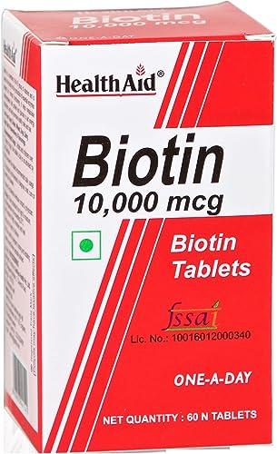 Health Aid Biotin 10000mcg 60 Tablets 60