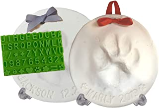 Best Ultimate Pawprint Keepsake Kit (Makes 2) - Paw Print Christmas Ornament w/ Bonus Personalization Tool & Display Stands! For Dogs, Cats & Pets. Non-toxic. Clay Air-Dries Soft, Light & Uncrackable. Reviews