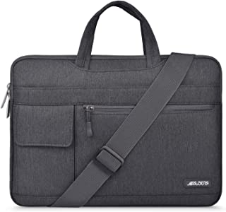 MOSISO Laptop Shoulder Bag Compatible 13-13.3 Inch MacBook Pro, MacBook Air, Notebook Computer, Protective Polyester Flapo...