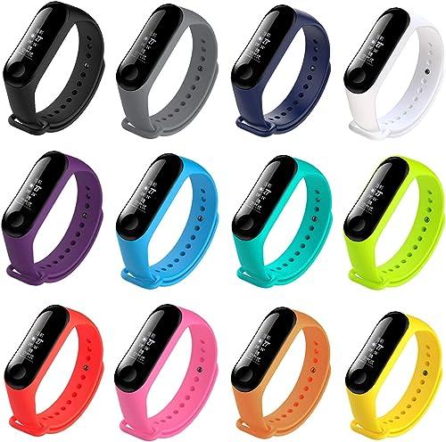 honecumi Colorful Strap for Mi Band Xiaomi 3/ Xiaomi 4 Watch Band Wrist Strap Bracelet Solid&Pattern Xiaomi Mi Band 3...