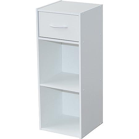 Alsapan Compo Meuble de Rangement 2 Casiers + 1 Tiroir Bibliothèque Etagères Cubes Blanc 31 x 29,5 x 80 cm