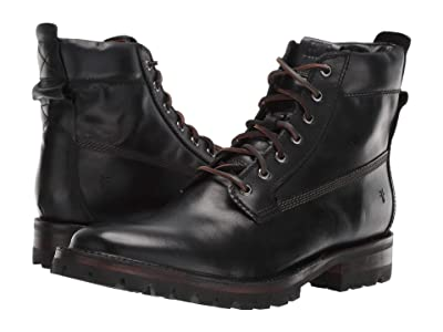 Frye Union Workboot (Black WP Smooth Pull-Up) Men