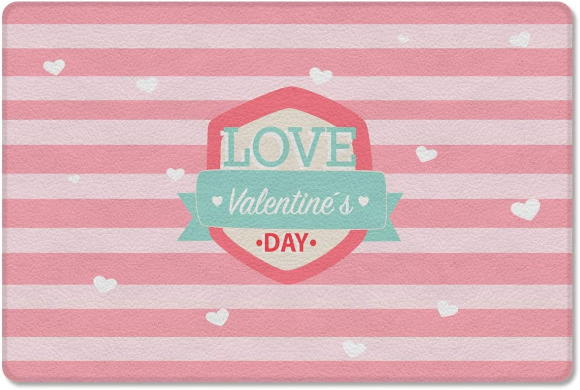 Gsypo Cushioned 本日限定 Anti Fatigue Kitchen Pink Stripe Valen Love Mat 正規品スーパーSALE×店内全品キャンペーン