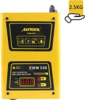 Portable Arc Inverter Welder with Carrying Strap, AUTOOL 120A IGBT Welding Machine Set Including Stick, Overheat Protection, 110V, US Plug