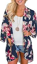 YONHEE - Cárdigan kimono floral para mujer, chal suelto, estilo bohemio, casual, para verano, para mujer