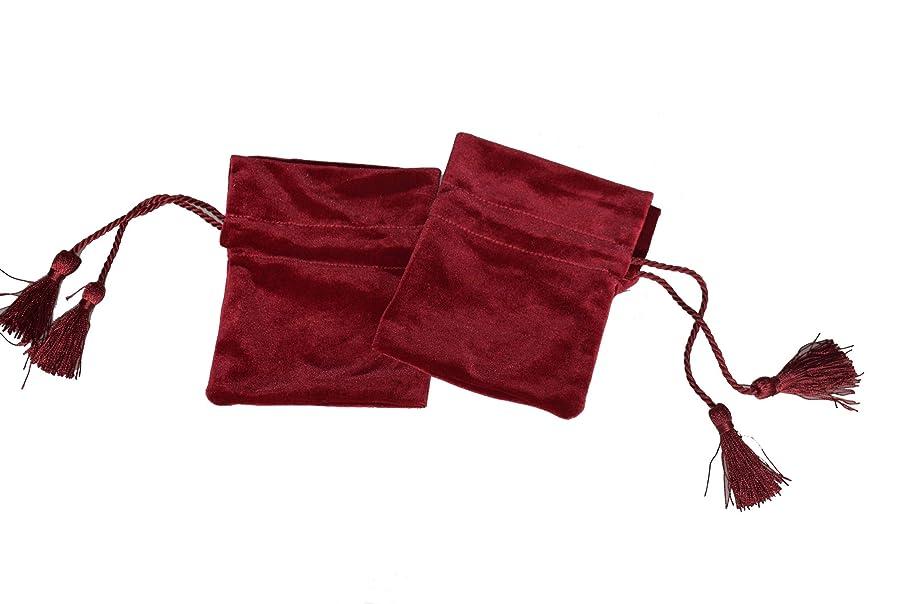 Favor Bags Wedding Candy Favors Velvet Gift Bags for Baby Shower Birthday (Wine red)