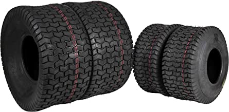 MASSFX 4 New Lawn Mower Tires 15x6-6 20x10-8 4 PLY Four Pack