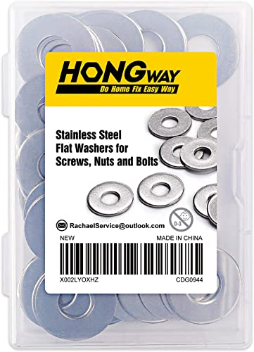 """high quality HongWay 3/8"""" x 1"""" sale OD Flat Washers 50pcs, 304 Stainless Steel Washers new arrival for Screws, Nuts and Bolts online sale"""