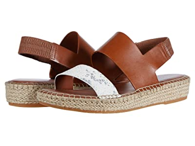 Cole Haan Cloudfeel Espadrille Sandal (Natural Chalk Python Print Leather/British Tan Leather) Women