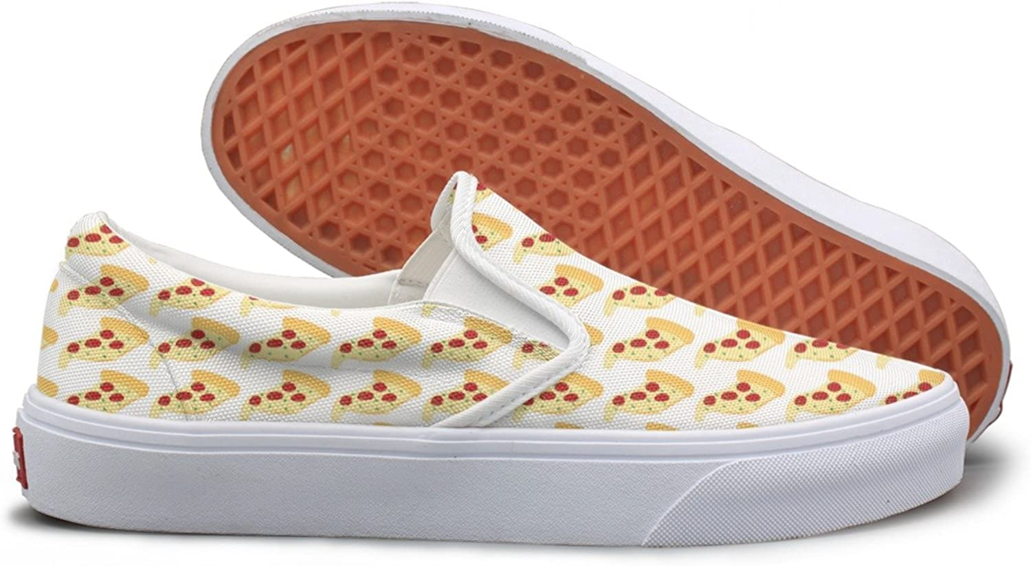Lalige Slice Of Pizza Womens Cute Canvas Slip-on Walking shoes