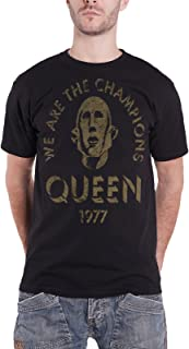Queen T Shirt We Are The Champions 1977 Band Logo 公式 メンズ 新しい
