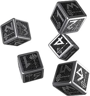 Q WORKSHOP Metal Dwarven 5D6 Ornamented Dice Set