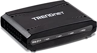 TRENDnet Mid-Band HPNA Coaxial Network Adapter, Data Transmission rates up to 256Mbps over Distances up to 1600M (5,200 Ft.), TPA-311