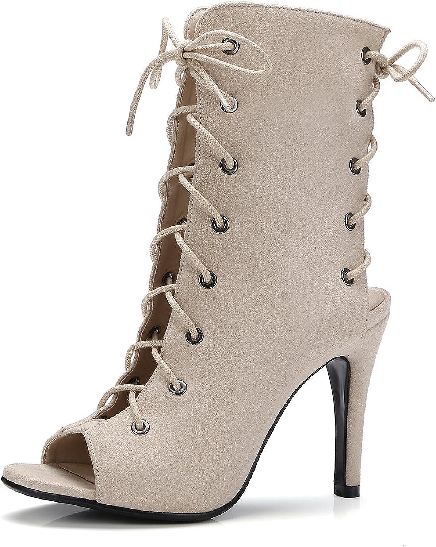 AIWEIYi Womens Peep Toe Retro Style Stiletto High Heel Slingbacks Strappy Sandals Black