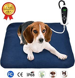 RIOGOO Pet Heating Pad, Electric Heating Pad for Dogs and Cats Indoor Warming Mat with Auto Power Off 18