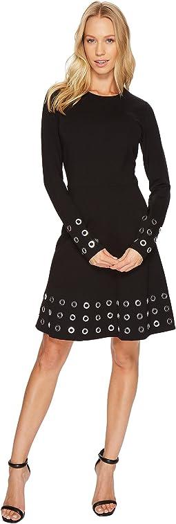 MICHAEL Michael Kors - Grommet Embellished Flare Dress