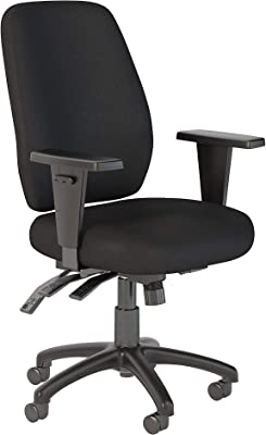 Bush Business Furniture Prosper High Back Multifunction Office Chair in Black Fabric