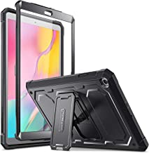 Fintie Shockproof Case for Samsung Galaxy Tab A 10.1 2019 Model SM-T510 / T515 / T517, Rugged Unibody Hybrid Full Protective Bumper Kickstand Cover with Built-in Screen Protector, Black