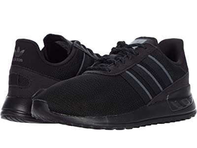 adidas Originals Kids LA Trainer Lite J (Big Kid) (Core Black/Core Black/Grey Six) Kids Shoes