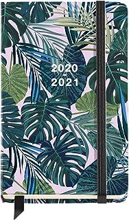 Miquel Rius - Agenda Escolar Tropical Curso Lectivo 2020-2021, Español, Semana Vista, Tamaño 117x182 mm, Papel 80g, Cierre de Goma Elástica y Lomo Cosido, Color Verde