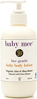 Baby & Kids Body Lotion With Moisturizing Organic Aloe, Shea Butter, Natural Honey For Healing Eczema, Dry Sensitive Skin, Rashes - Cruelty, Paraben & Fragrance Free - For Boys Girls
